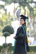 Stock Photo of The girl in Graduation day