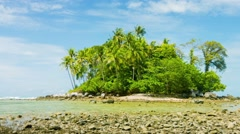 Tiny Tropical Island in Thailand, Asia Stock Footage