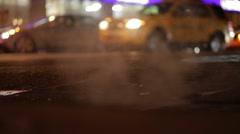 Smokey night NYC - stock footage