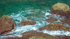Tropical Sea Water in Tidepools in Thailand Stock Footage