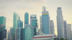 SINGAPORE - CIRCA JAN 2014: High-rise office building in downtown Stock Footage