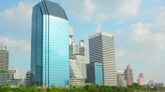 BANGKOK, THAILAND - CIRCA NOV 2013: High-rise office buildings in the city ce Stock Footage