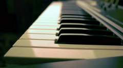 Electronic piano Stock Footage