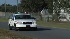 Cop Car Backing Up - stock footage