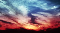 Parasailer in a red blue Sunset Stock Footage