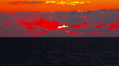 Sunset on the Black Sea - stock footage