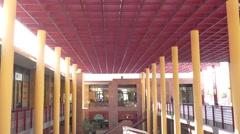 4K UHD Indoor market San Sebastian La Gomera Canary islands Spain Stock Footage