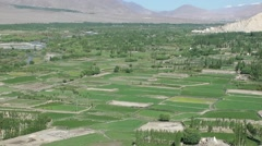 View to Shey from Tiksey,Shey,Ladakh,India Stock Footage