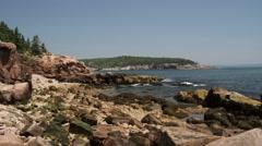 Ocean waves crashing into rocks - stock footage
