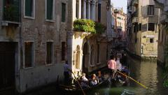 Gondolas and Tourists in Venice, Italy 4K Stock Video Footage Stock Footage