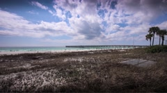 Panama City Beach, Florida 4K Timelapse from County Pier 2 Stock Footage