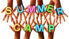Summer Camp Kids - stock illustration