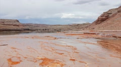 Crystal Geyser in Green River Utah Stock Footage