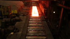 Metallurgy  rolled metal factory Stock Footage
