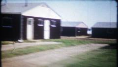 1962 - new home construction in suburban housing track - vintage film home movie Stock Footage