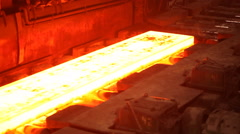 Metallurgy  rolled metal Stock Footage