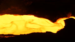Metallurgy stream of molten metal Stock Footage