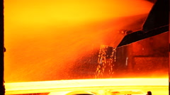 Metallurgy  rolled metal and cooling Stock Footage