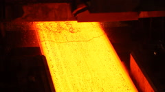 Metallurgy  rolled metal and water cooling Stock Footage