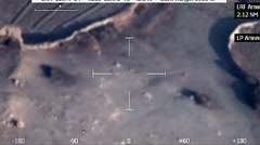 Aerial Footage from UAV Drone Over Remote Path in Afghanistan - stock footage
