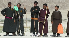Spectators at Archery,Sumur,Ladakh,India Stock Footage