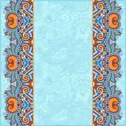 Stock Illustration of background with flower ribbon, stripe pattern