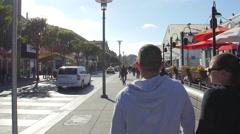 Walking on Jefferson Street in San Francisco Stock Footage
