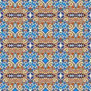 authentic seamless geometry vintage pattern - stock illustration