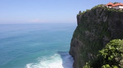 Rock and Big Wave at Uluwatu Bali Indonesia Stock Footage