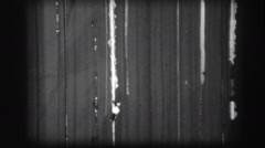 Ffilm scratches 8mm leader tape 5 Stock Footage