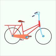 Female urban exercise bike - stock illustration