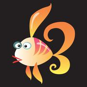 Cartoon fish on a neutral background Stock Illustration