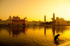 Amritsar Golden Temple - stock photo