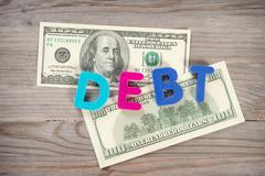 Bank notes and loan alphabet Stock Photos