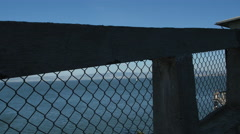 Guarding post on Alcatraz Island, San Francisco - stock footage