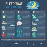 Sleep Time Infographics Piirros