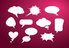 Set of bubble icon - stock illustration