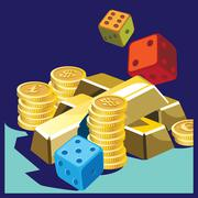 fortune - stock illustration