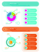Abstract pie chart graphic for business design - stock illustration