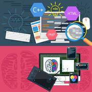 Program coding and graphic design Stock Illustration