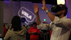 Stock Video Footage of Virtual Reality Expo