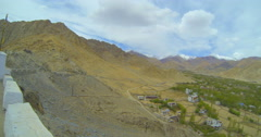 Lech panorama from the observation tower of the palace Namgyal Stock Footage
