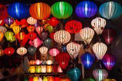 Handicraft colorful lamps - stock photo