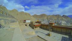 View of the courtyard of the palace Namgyal Stock Footage