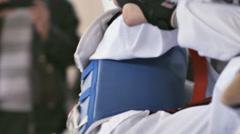 Taekwondo Boys Fight 1 - stock footage