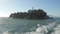 Famous Alcatraz Island in San Francisco Arkistovideo