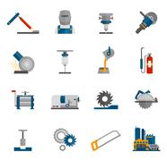 Metal-working Icon Flat - stock illustration