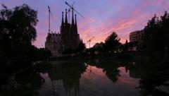 Timelapse day - night - Sagrada Familia, Barcelona, Spain Stock Footage
