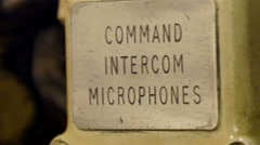 Its the Command Intercom Microphones display Stock Footage