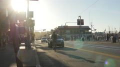Sunny afternoon on Jefferson Street in San Francisco Stock Footage